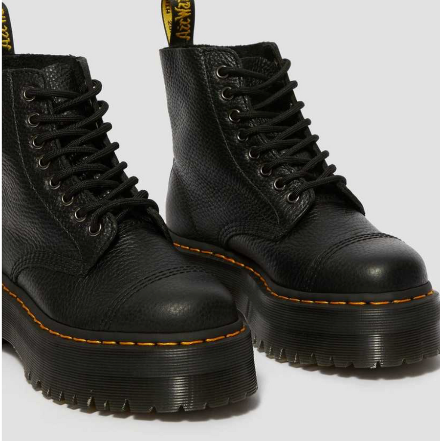 Dr Marten - Sinclair Leather Platform Boots - Black