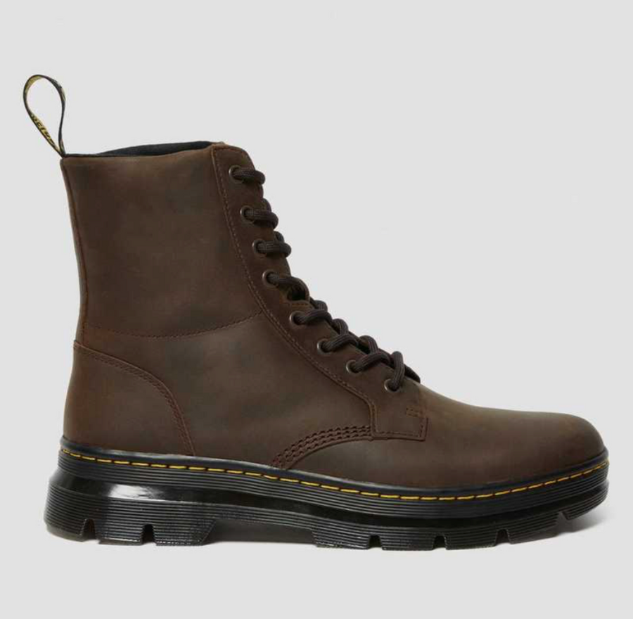 Dr Martens - Combs Leather Boots - Crazy Horse Brown