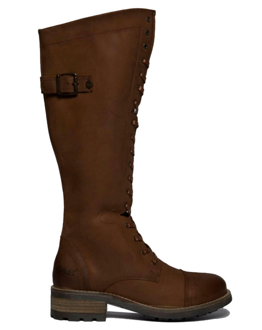 Oak & Hyde - Bridge 18 Hole Leather Boot - Brown