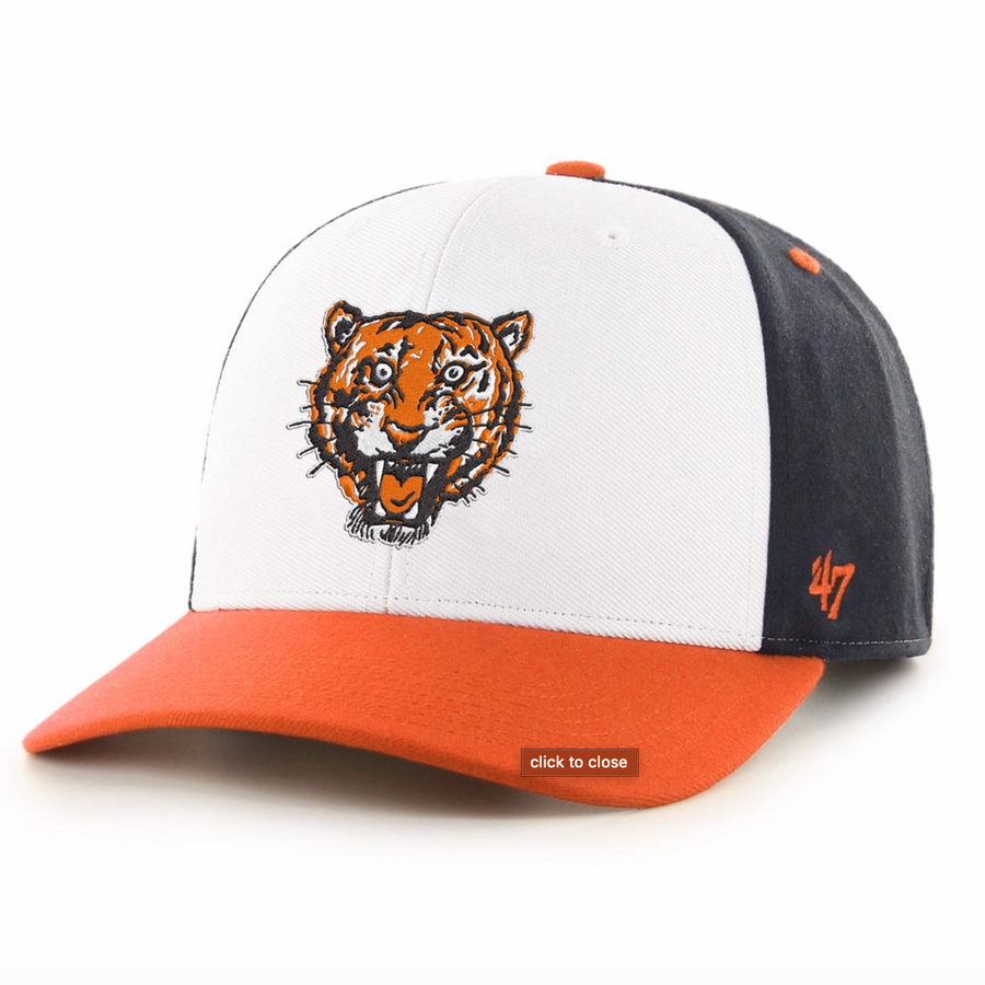'47 Brand - Detroit Tigers Cap - White / Navy / Orange