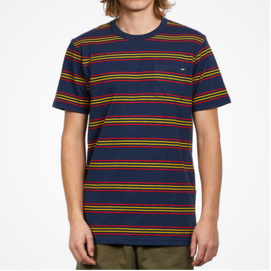 Vans - Men's Striped T-Shirt - Dress Blue