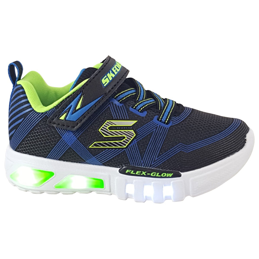 Skechers-Flex-90542n-Glow-Lights-Toddler-Trainers