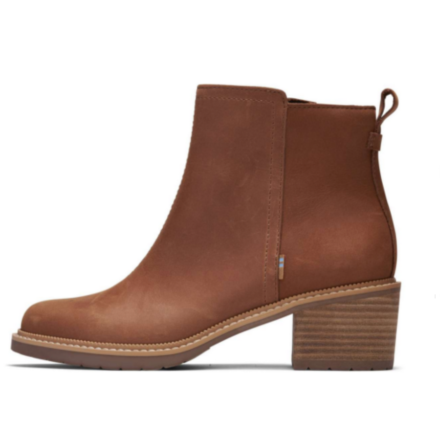 Toms - Marina Way Leather Chelsea Boot - Tan