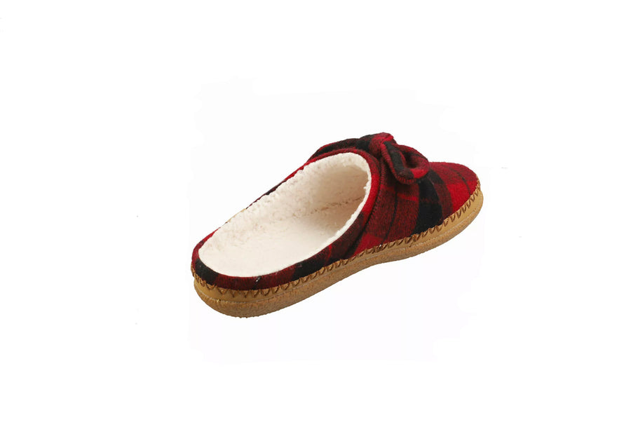 Toms-Ivy-Red-Plaid-bow-Slippers
