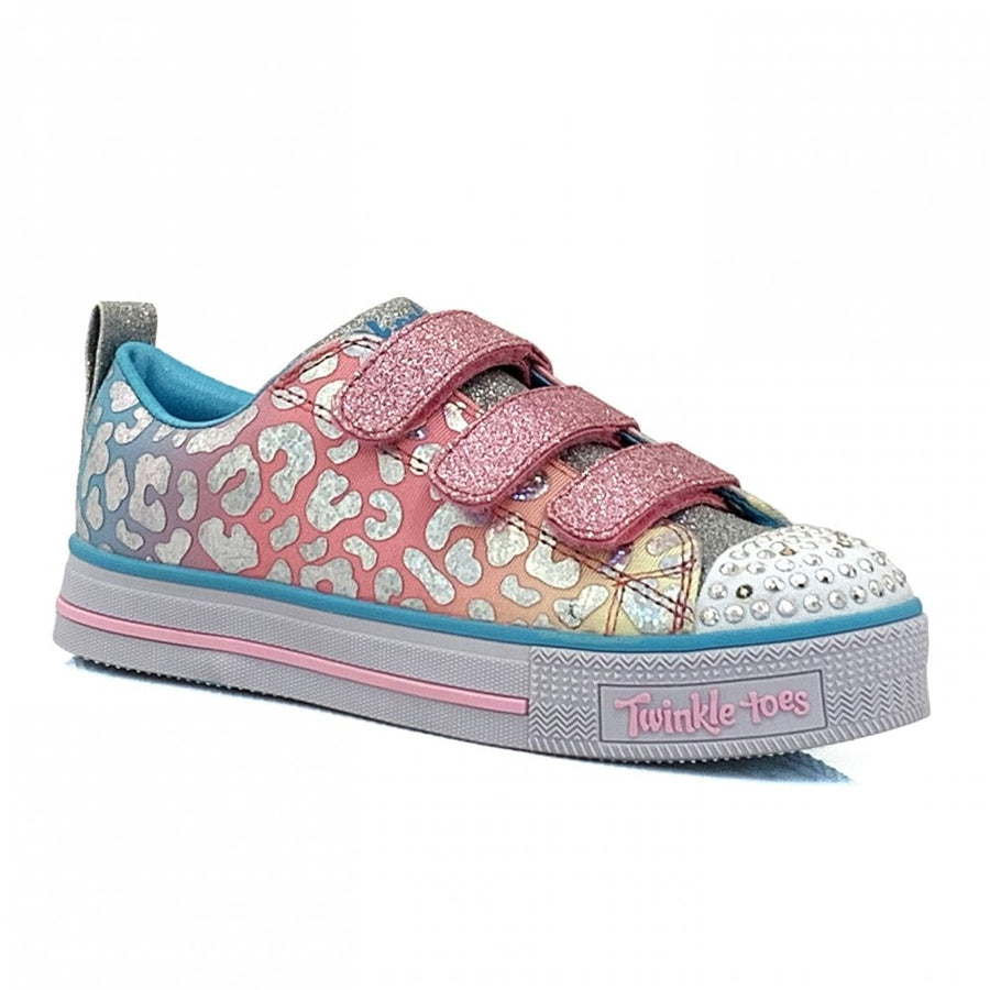 Skechers - Girls Trainer Twinkle Lite Sparkle Spots - Pink Multi