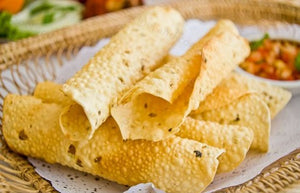 Papadum - a light and crispy Indian snack