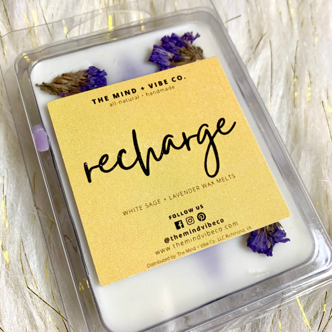 Recharge: White Sage + Lavender Wax Melts