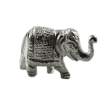 Solid Silver Elephant w/ Trunk Up 60 gms
