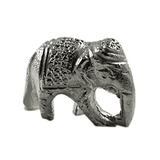 Solid Silver Elephant- Trunk Down  60 gms