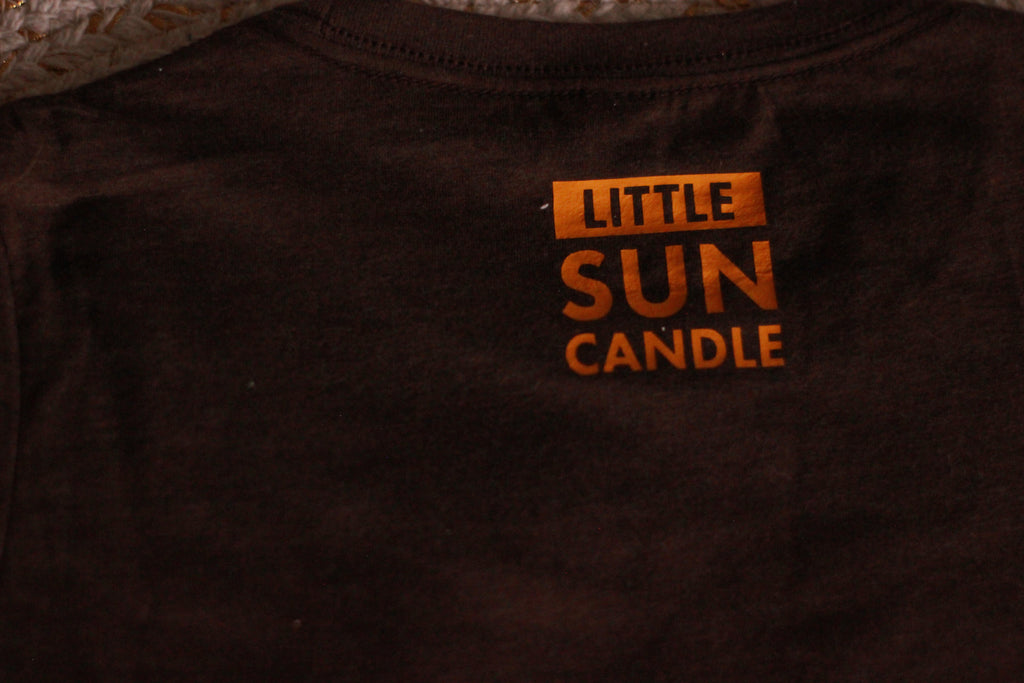 Brown Little Sun Candle Tee - LITTLE SUN CANDLE
