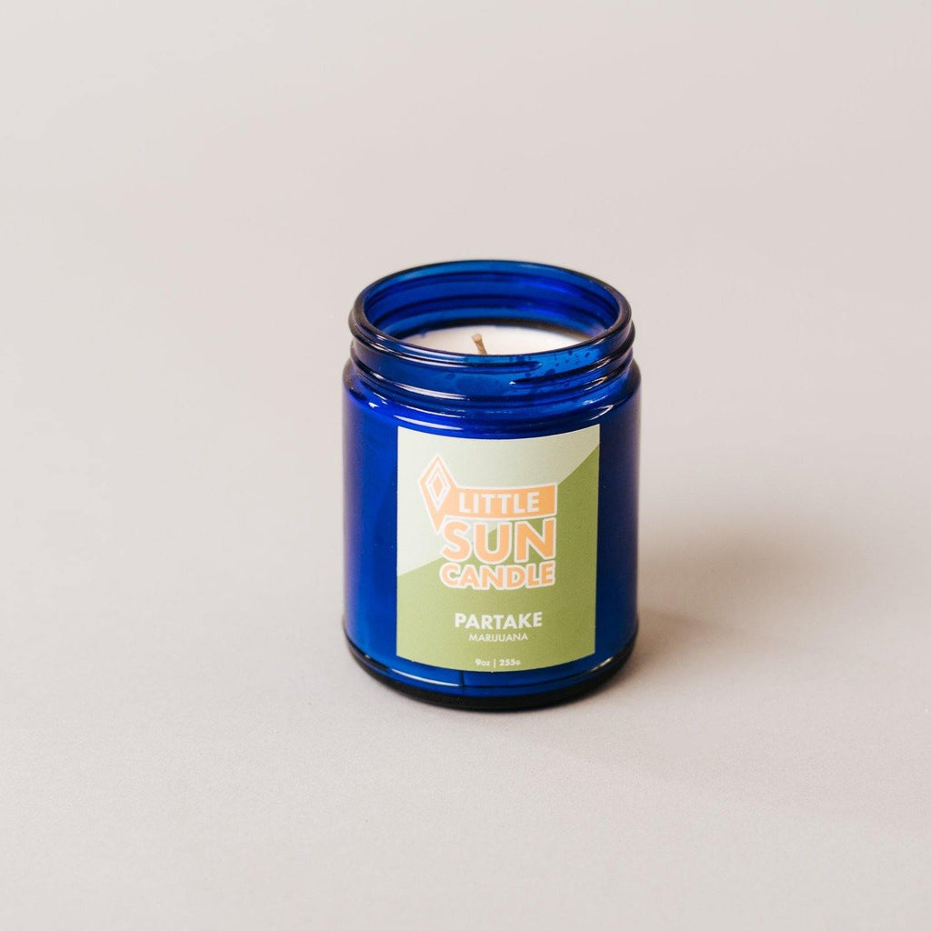 PARTAKE Hemp + Marijuana Little Sun Candle - LITTLE SUN CANDLE