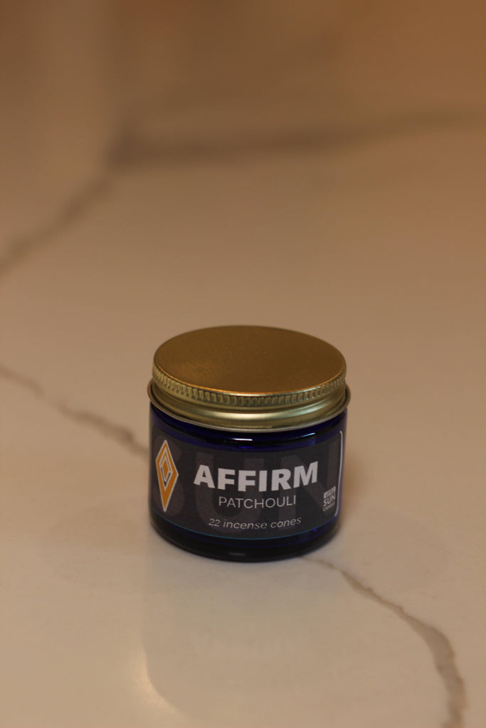 AFFIRM Patchouli Charcoal Incense Cones - LITTLE SUN CANDLE