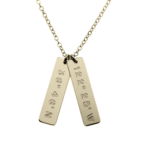 Coordinates Necklace Vertical Bars