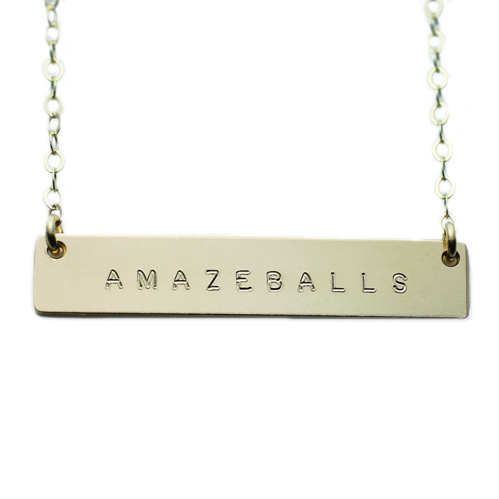 The Name Plate Necklace Amazeballs