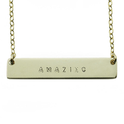 The Name Plate Necklace Amazing
