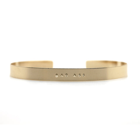 Gold Bad Ass Cuff Bracelet