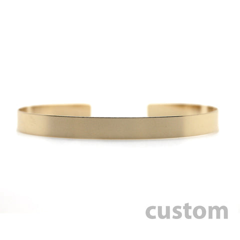 Gold Nameplate Cuff Bracelet Custom