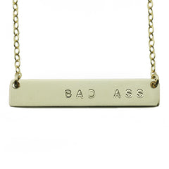 BAD ASS NAMEPLATE NECKLACE