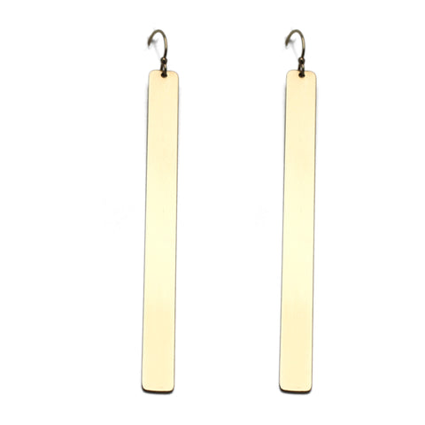 The Custom Gold Bar Earrings
