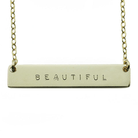 The Name Plate Necklace Beautiful