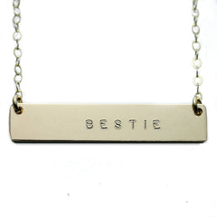 BESTIE NAMEPLATE NECKLACE