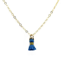 Tiny Tassel Charm Necklace