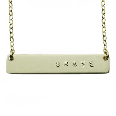 The Name Plate Necklace Brave
