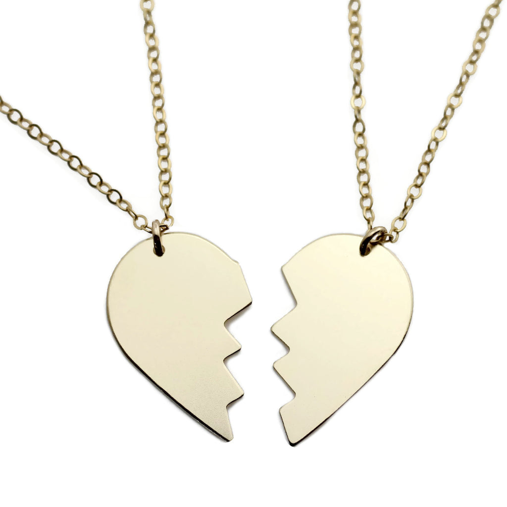 Split heart necklaces the urban smith split heart necklaces aloadofball Choice Image