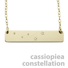 CASSIOPIEA CONSTELLATION NECKLACE