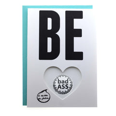 PIN GREETING CARD - BE