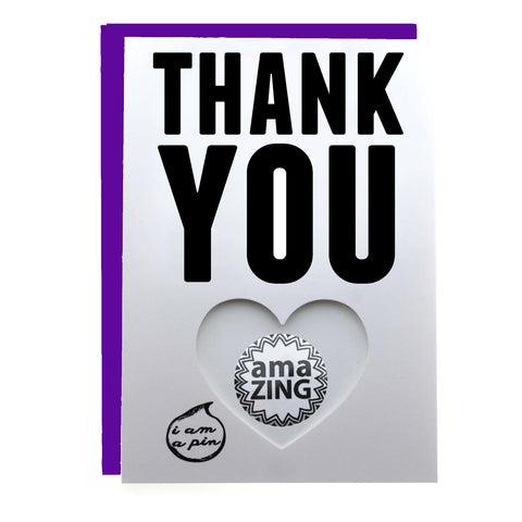 PIN GREETING CARD - THANK YOU