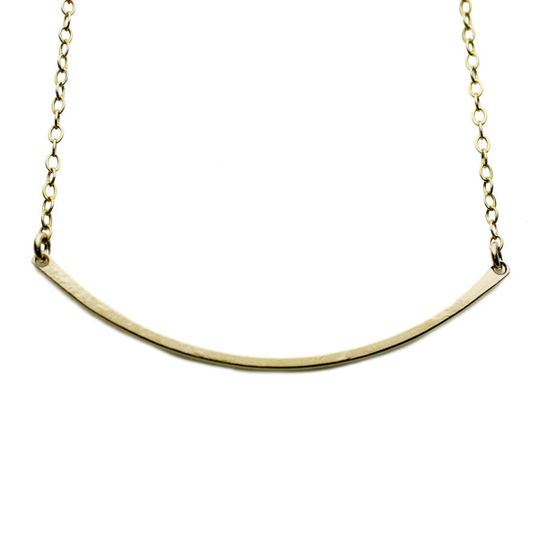 The Gold Curved Bar Necklace The Urban Smith