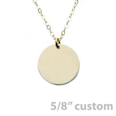 Custom Charm Disc Necklace