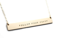 CUSTOM GOLD NAMEPLATE NECKLACE