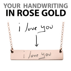CUSTOM HANDWRITING NECKLACE ROSE GOLD