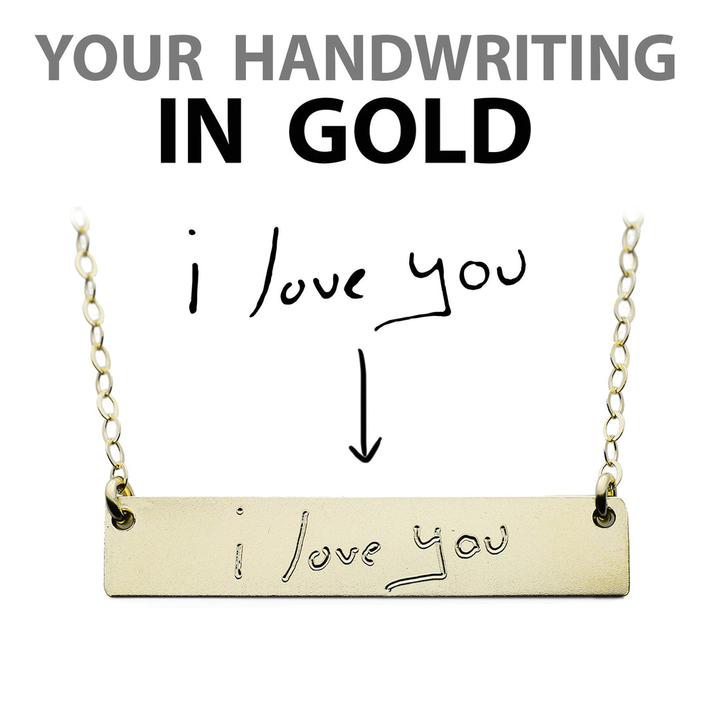 Customized handwriting necklace