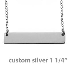 CUSTOM STERLING SILVER NAMEPLATE