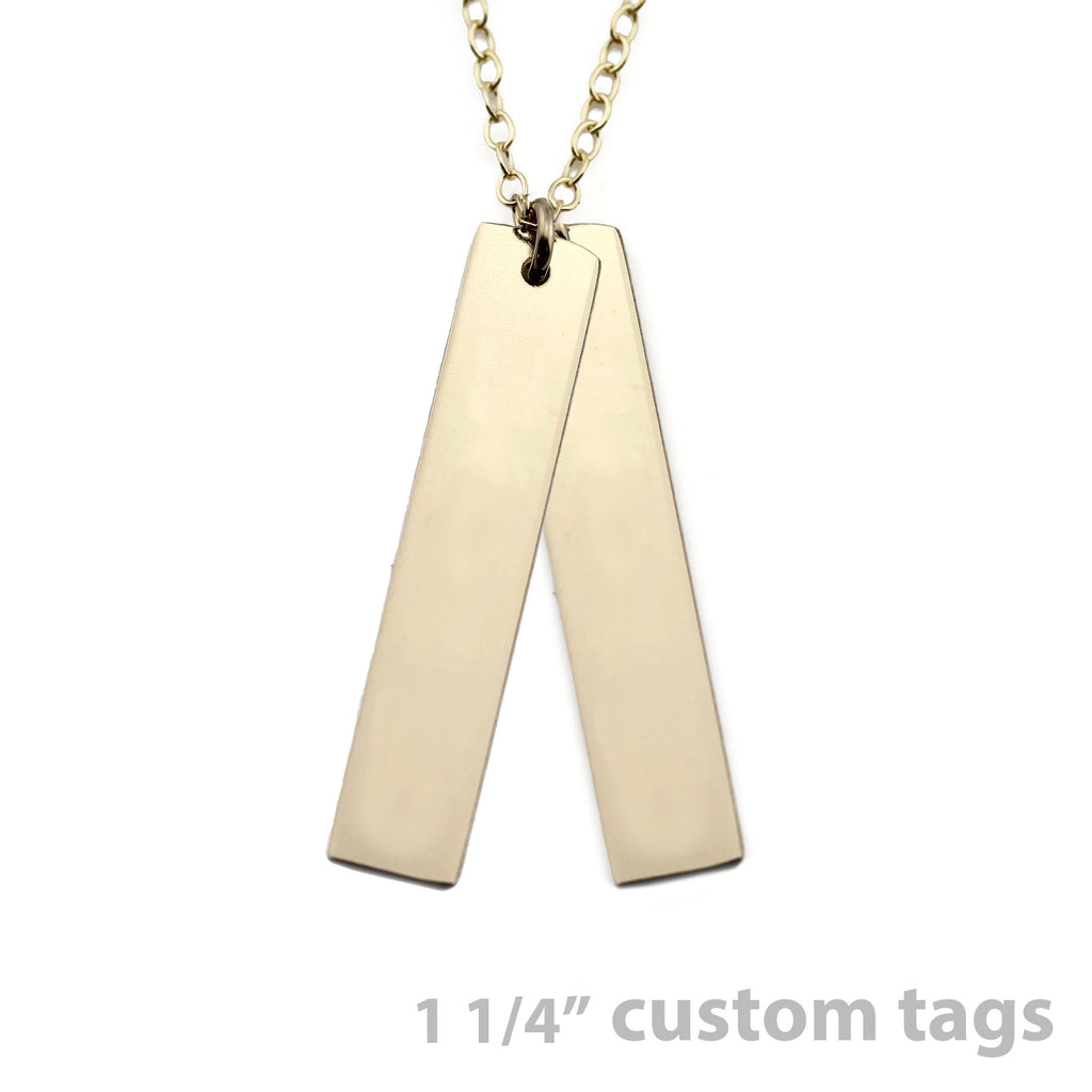 CUSTOM VERTICAL NAMEPLATE NECKLACE TAGS