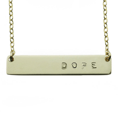 The Name Plate Necklace Dope