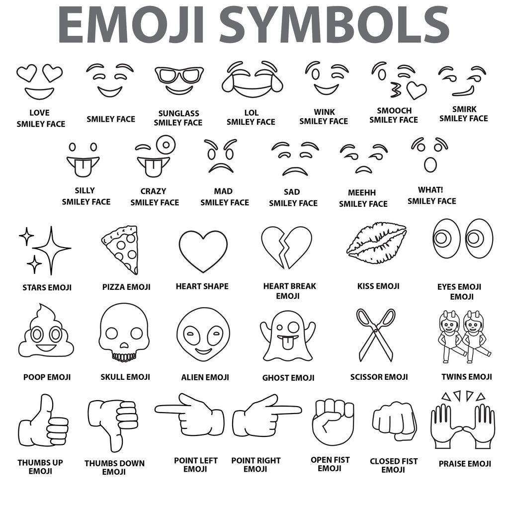 Black And White Emoji Symbols Images Meaning Of This Symbol