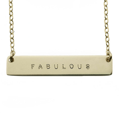 The Name Plate Necklace Fabulous