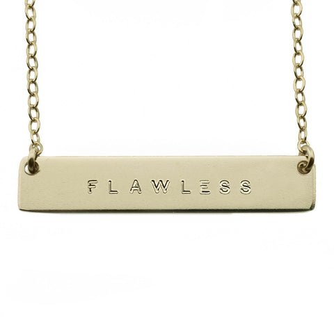 The Name Plate Necklace Flawless
