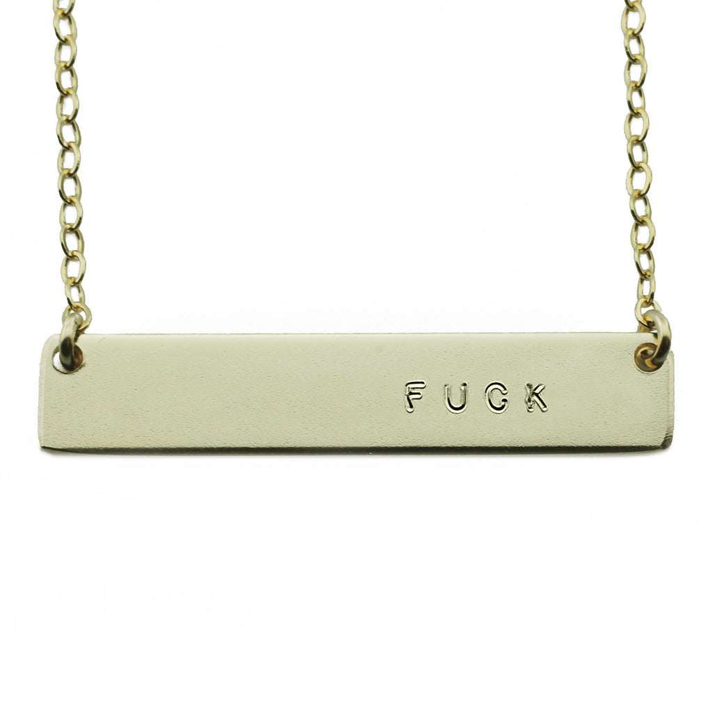FUCK NAMEPLATE NECKLACE