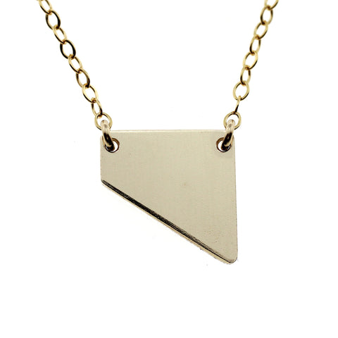 Geometric Angle Gold Necklace