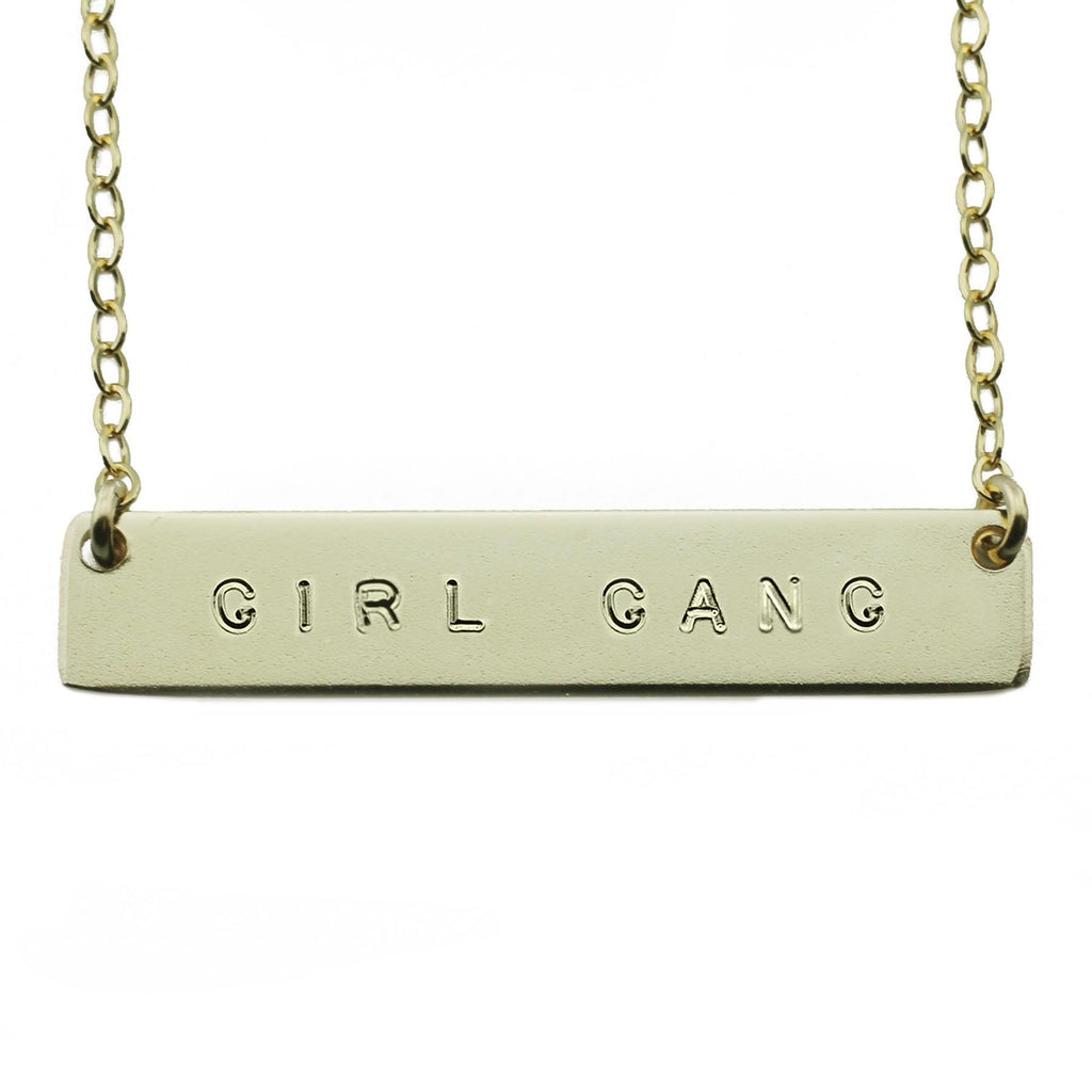 Girl Gang Nameplate Necklace