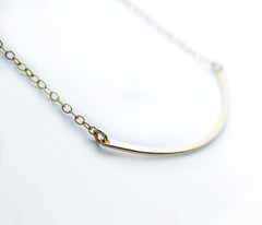 The Gold Curved Bar Necklace