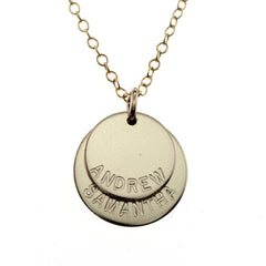 GOLD DISC NECKLACES
