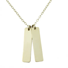 Custom Handwriting Vertical Bar Necklace