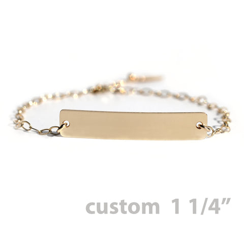 The Gold Nameplate Bracelet Custom