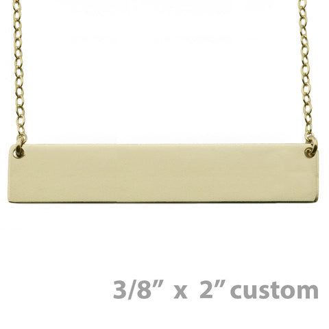 "Custom Gold Nameplate Necklace 3/8"" x 2"""